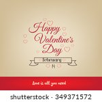 romantic happy valentine day... | Shutterstock .eps vector #349371572