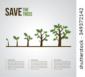 trees vector illustrate growing | Shutterstock .eps vector #349372142