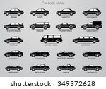 car body styles. | Shutterstock .eps vector #349372628