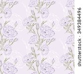 seamless floral pattern with... | Shutterstock .eps vector #349384496