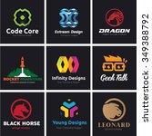 logo set logo collection vector ... | Shutterstock .eps vector #349388792