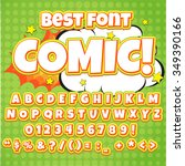 creative high detail comic font.... | Shutterstock .eps vector #349390166