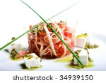 fresh appetizer isolated on the white background - stock photo