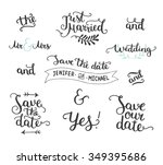 save the date collection with... | Shutterstock .eps vector #349395686