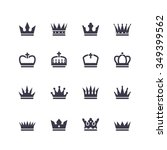 crown icons | Shutterstock . vector #349399562