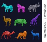 Animals Low Poly. Roe And Lion...