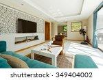 living room interior design... | Shutterstock . vector #349404002