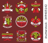 mexican food grunge rubber... | Shutterstock .eps vector #349405142