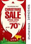 christmas sale. vector banner | Shutterstock .eps vector #349405406