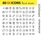 hand drawn user interface icons....