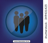 three people | Shutterstock .eps vector #349431425