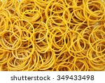 a pile of rubber bands. | Shutterstock . vector #349433498