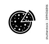 pizza icon | Shutterstock .eps vector #349436846