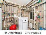 boiler room equipment with deep ... | Shutterstock . vector #349440836