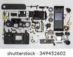 photo camera disassembled... | Shutterstock . vector #349452602