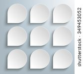 infographic design with 9 white ... | Shutterstock .eps vector #349453052
