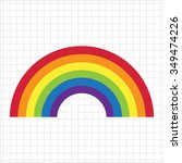 vector icon of rainbow curve... | Shutterstock .eps vector #349474226
