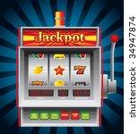 detailed illustration of a slot ... | Shutterstock .eps vector #34947874