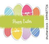 lovely easter design | Shutterstock .eps vector #349487726