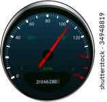 speedometer | Shutterstock .eps vector #34948819