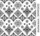 ethnic tribal art seamless...   Shutterstock . vector #349492652