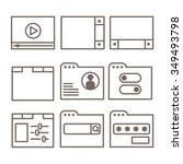 vector icons of interface...