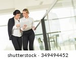 two business colleagues... | Shutterstock . vector #349494452