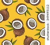 seamless vector pattern of... | Shutterstock .eps vector #349495112