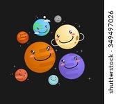 the solar system vector... | Shutterstock .eps vector #349497026
