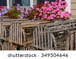 Lobster Traps And Flowers