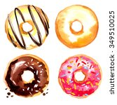 Donuts Painted With Watercolors ...