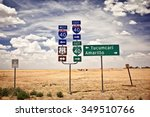 Route 66 Intersection Signs In...