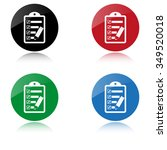 checklist   color vector icon | Shutterstock .eps vector #349520018
