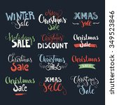 holiday sale  christmas... | Shutterstock .eps vector #349523846