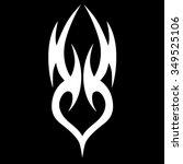 tattoo tribal vector designs.... | Shutterstock .eps vector #349525106