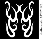 tribal tattoo vector design... | Shutterstock .eps vector #349525172
