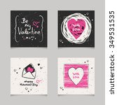 set of valentines cards | Shutterstock .eps vector #349531535