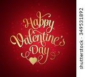 happy valentines day vintage... | Shutterstock . vector #349531892