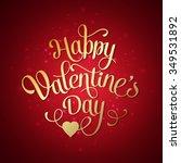 happy valentines day vintage...   Shutterstock . vector #349531892