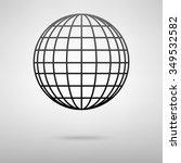 earth globe   vector icon | Shutterstock .eps vector #349532582
