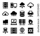 big data center and server... | Shutterstock .eps vector #349533485