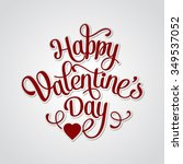 happy valentines day vintage... | Shutterstock . vector #349537052