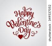happy valentines day vintage...   Shutterstock . vector #349537052
