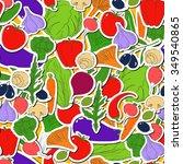 seamless vector pattern.... | Shutterstock .eps vector #349540865