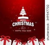 christmas greeting card light... | Shutterstock .eps vector #349547732