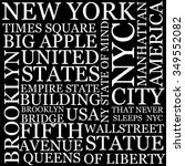 new york city wallpaper made of ... | Shutterstock . vector #349552082