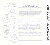 vector laboratory  chemical ... | Shutterstock .eps vector #349552865