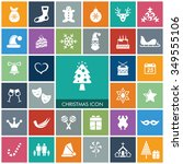 christmas icon set | Shutterstock .eps vector #349555106