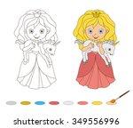 illustration of beautiful... | Shutterstock .eps vector #349556996