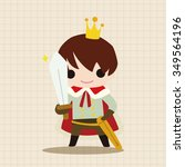 royal theme prince elements | Shutterstock .eps vector #349564196